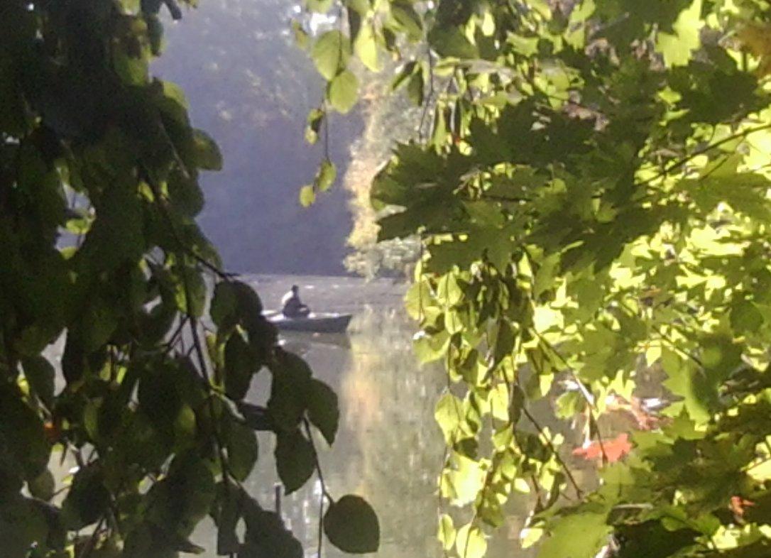 Fischerboot auf dem Plötzensee