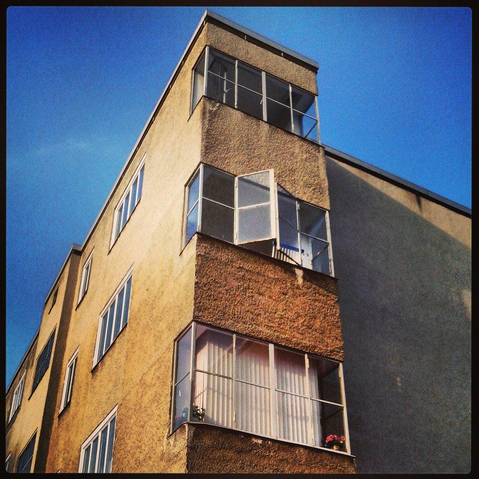 Markante Kopfbauten in der Togostraße