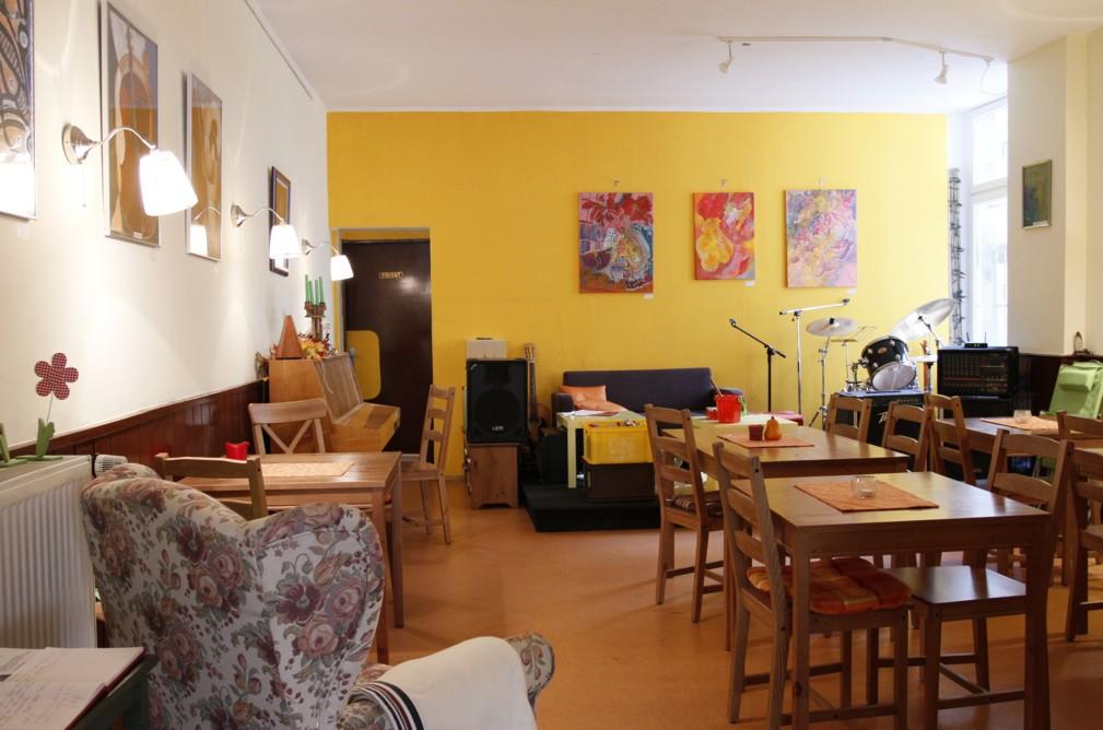 Wohnzimmeratmosphäre in der Pierogarnia