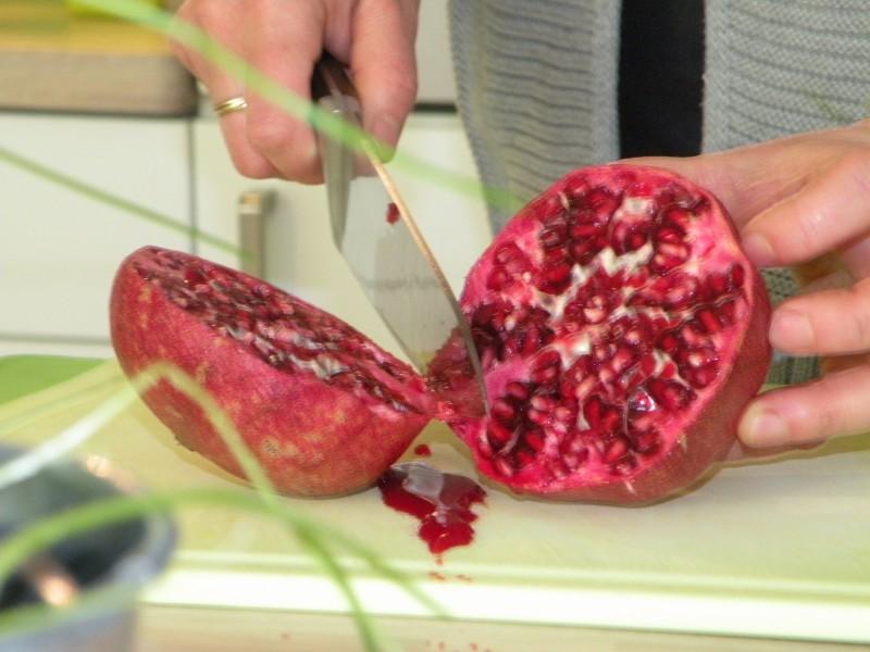 Granatapfel statt Kichererbsen