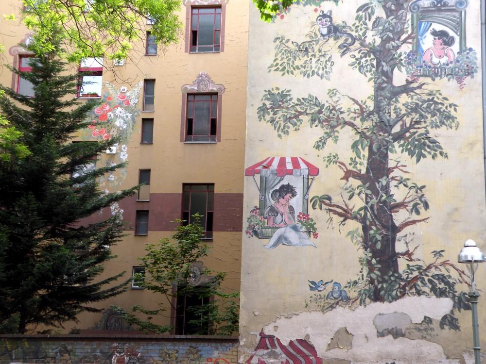 Wandbild in der Glasgower Str