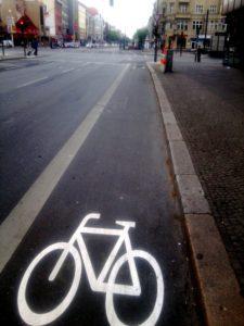 Fahrradstreifen in der nördlichen Müllerstraße