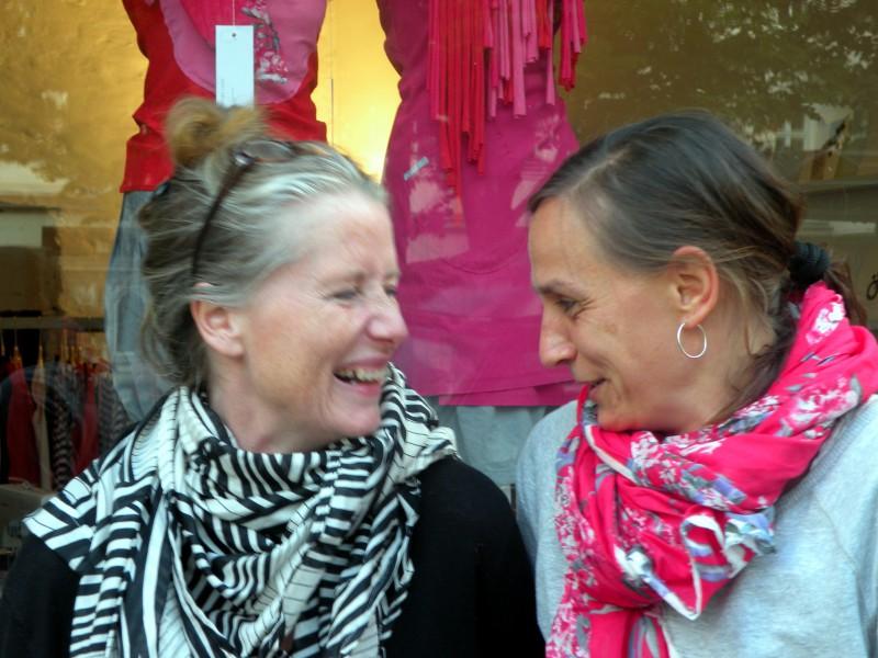 Montagehalle Berlin, Annette Haußknecht und Suse Stock