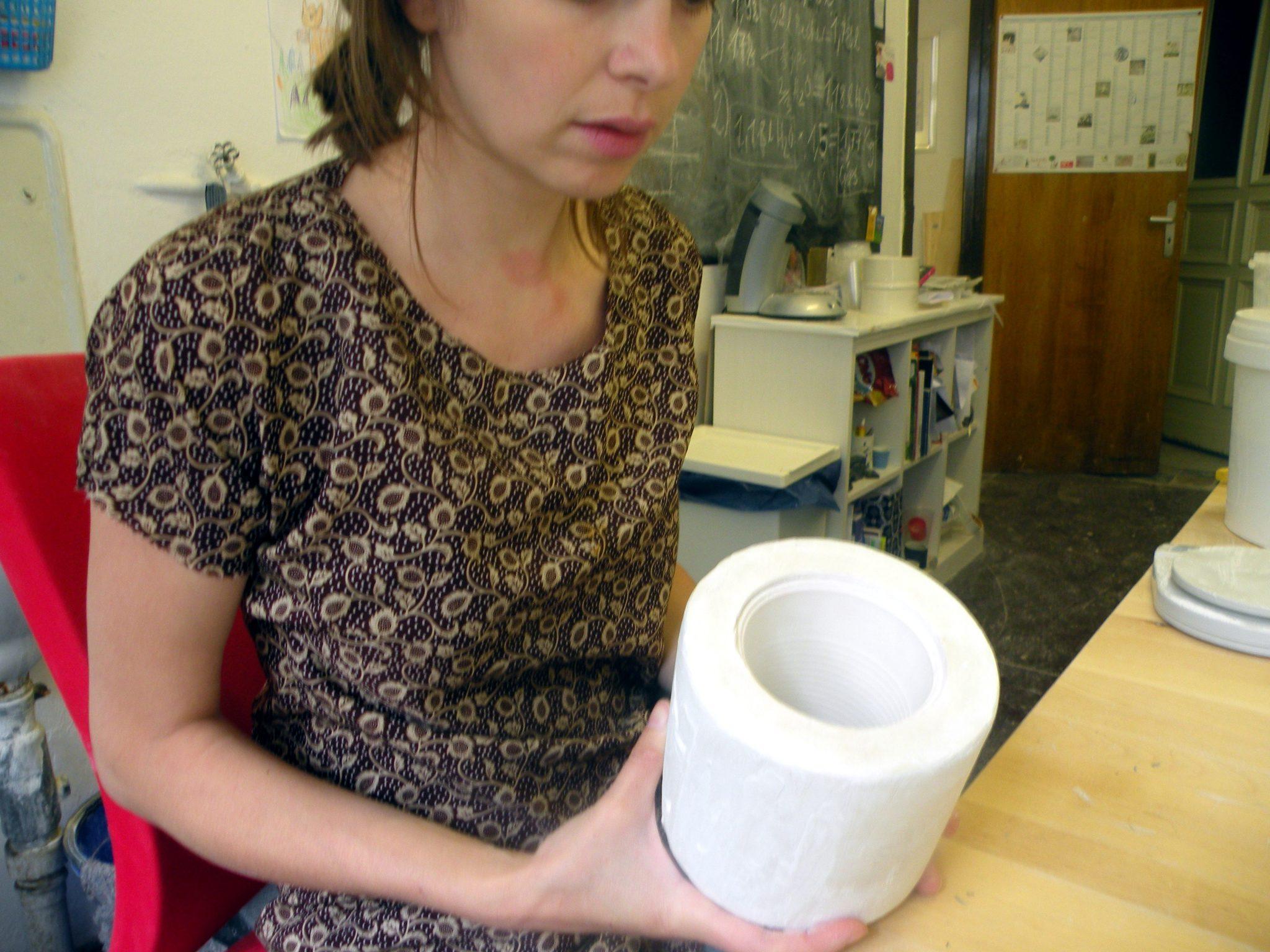 Eine Gussform für Porzellan