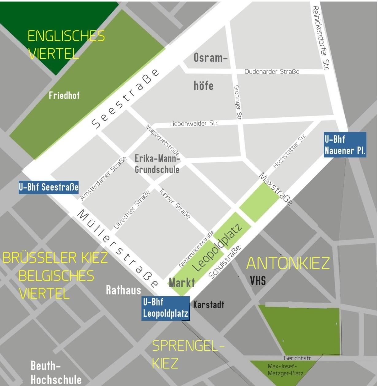 Karte Leopoldplatz Osramhöfe