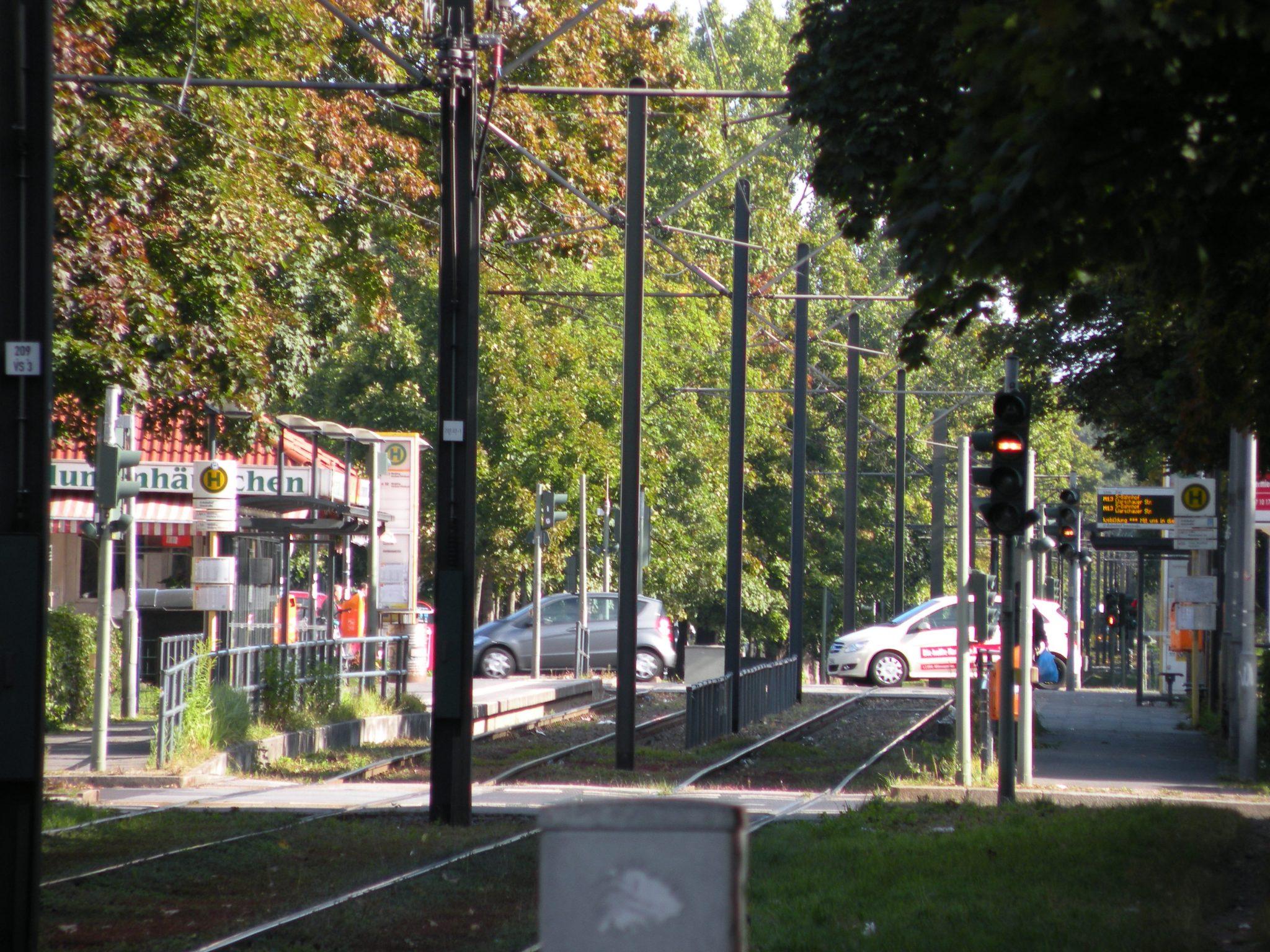 Genug Platz für Autos, Trams und Mittelpromenade