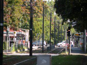 Genug Platz für Autos, Trams und Mittelpromenade an der Seestraße