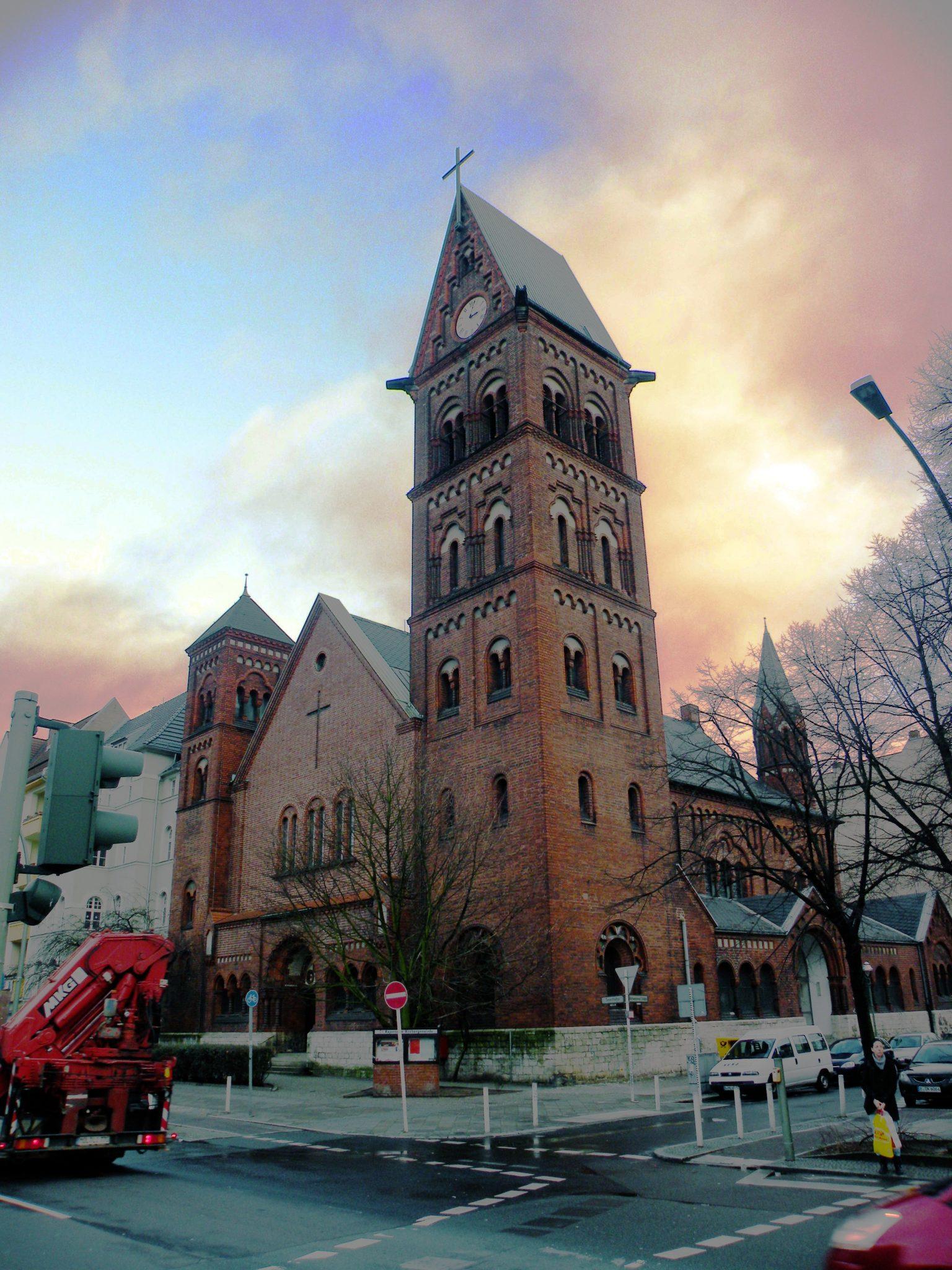 Die Kapernaumkirche am nördlichen Rand des Brüsseler Kiezes