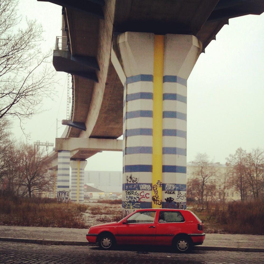 Fernbahnbrücke zwischen Wedding und Hauptbahnhof (Tegeler Straße)