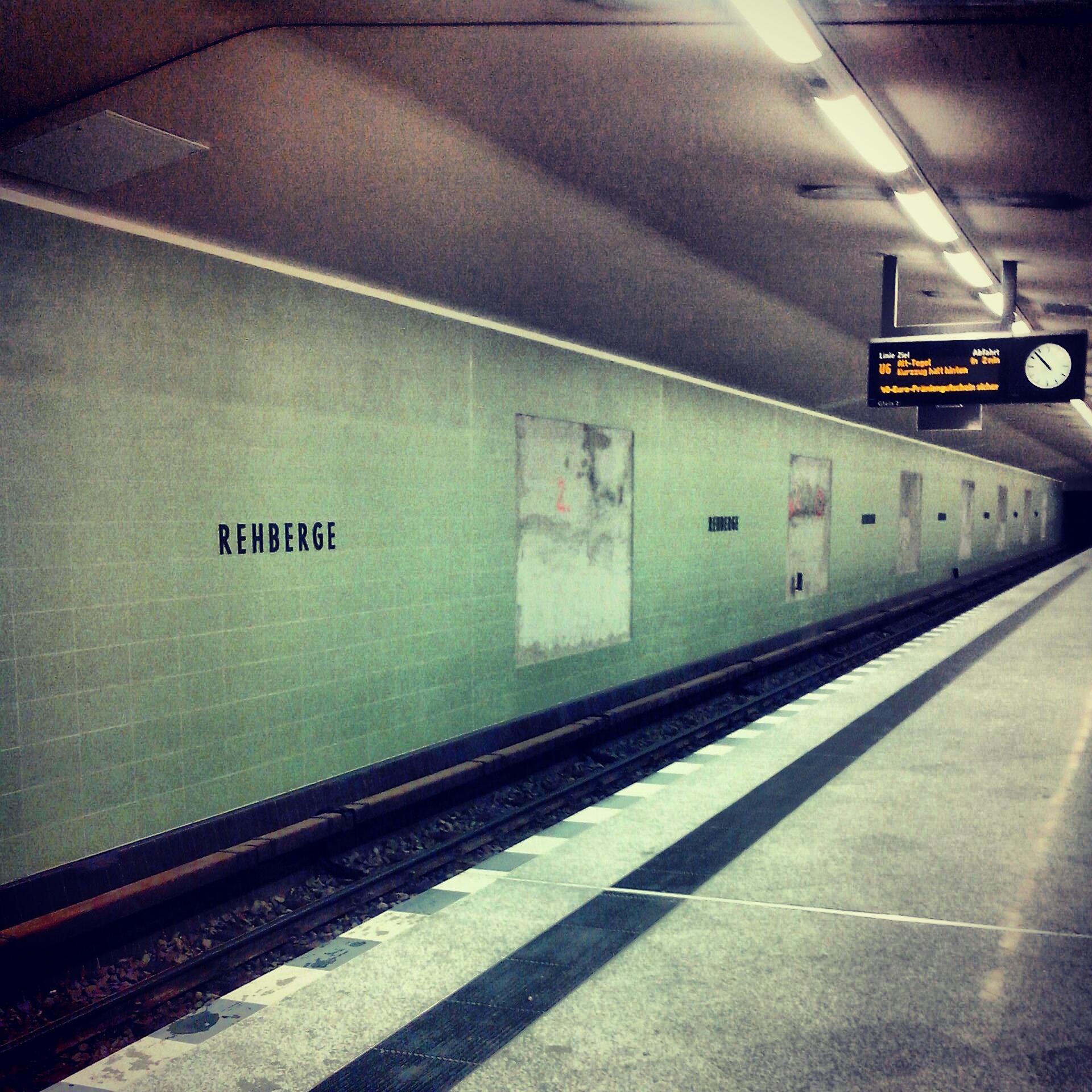 U Bhf Rehberge Bahnsteig