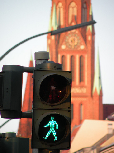 Ampel an der Osloer Straße