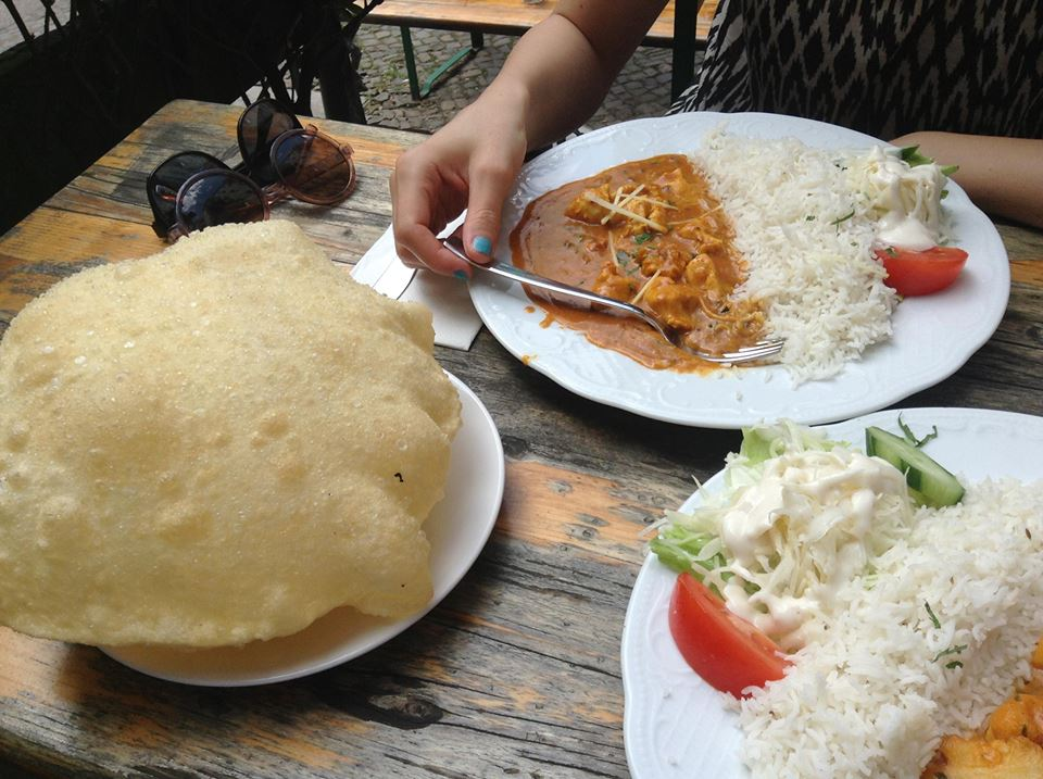 Essen im Naveena Path Foto: L.Tilly