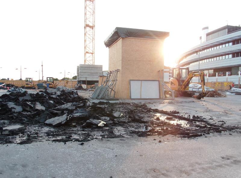 Baustelle am Bahnhof Gesundbrunnen