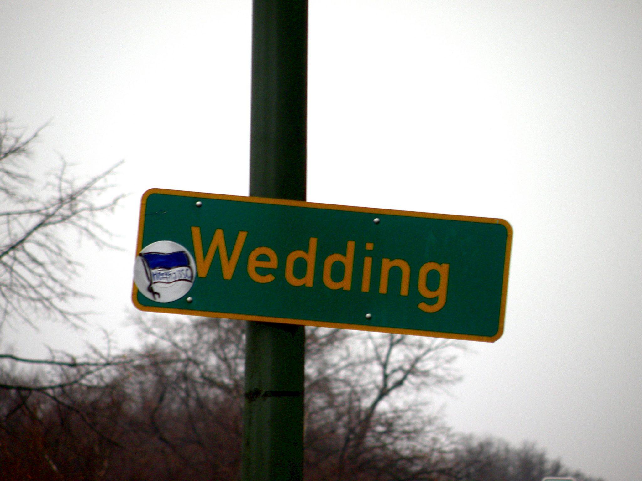 Ortsschild Wedding