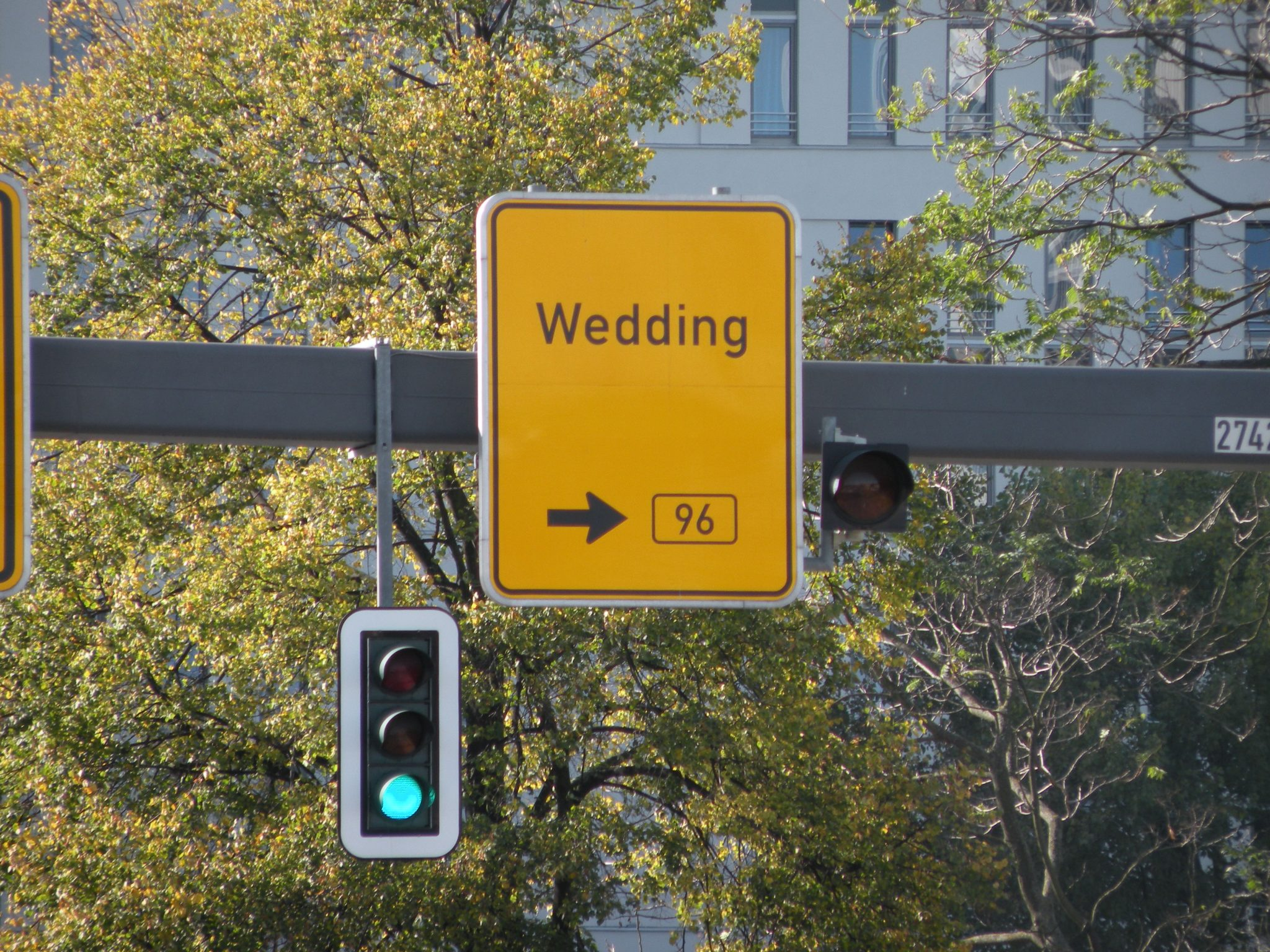 Wegweiser Richtung Wedding
