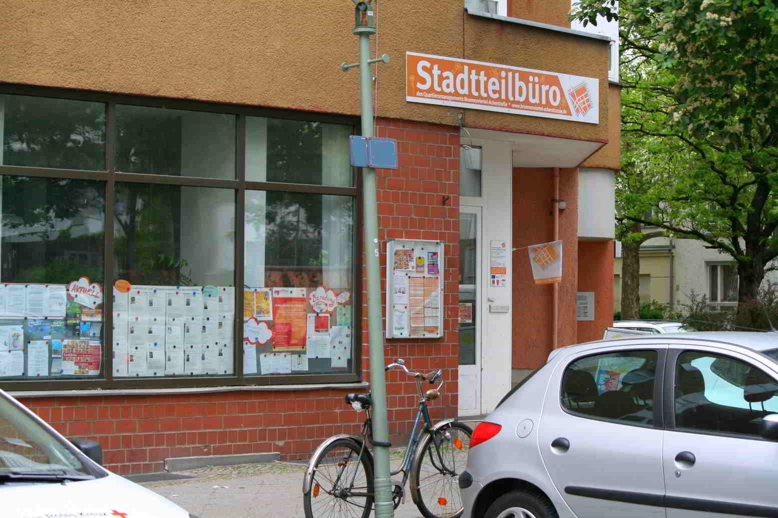 Das Büro des Quartiersmanagements Brunnenviertel-Brunnenstraße.