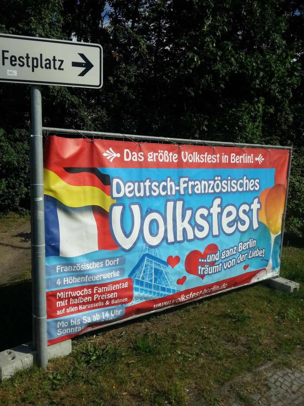 Plakat deutsch-französisches Volksfest