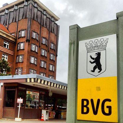 BVG Busbetriebshof. Entworfen von Jean Krämer. Foto Joachim Faust.