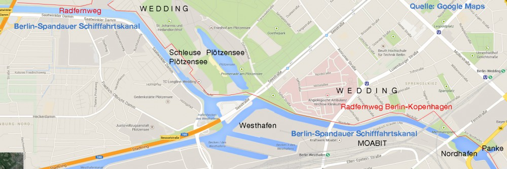 Karte Schiffahrtskanal
