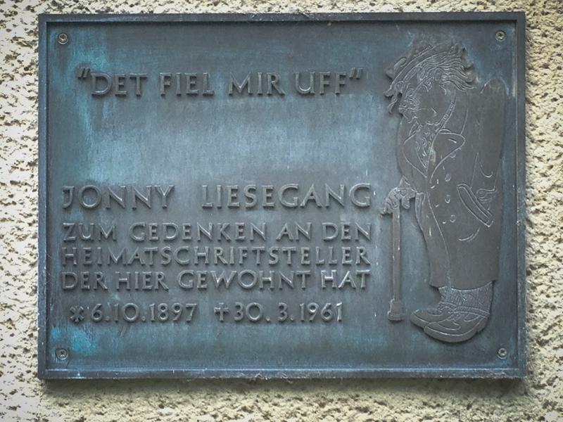 Gedenktafel Jonny Liesegang