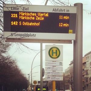 BVG Bus Anzeigetafel Leo