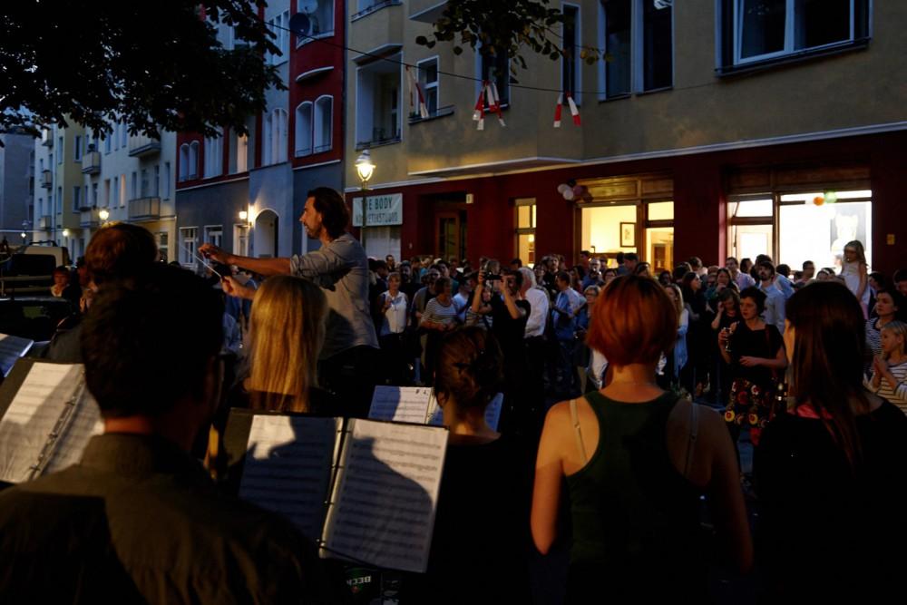 Bei der Eröffnung gab's Musik auf der Togostraße