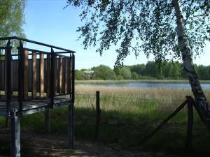 Vogelbeobachtungsposten in den Karower Teichen
