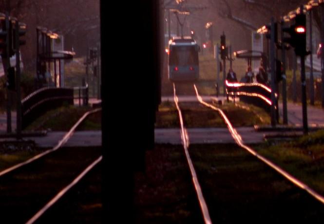 Straßenbahn auf der Seestraße