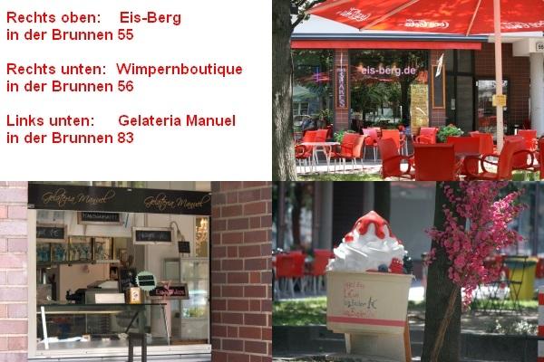 Weitere drei Eisdielen in der Brunnenstraße (Gesundbrunner Teil)