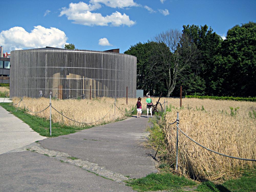 Die Kapelle der Versöhnung wird vom Feld umschlossen. Foto: Hensel