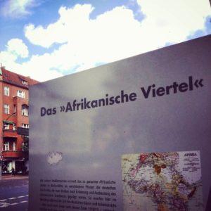 Infostele im Afrikanischen Viertel