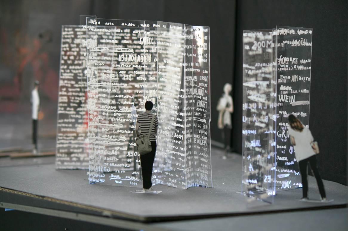 Detail eines Modells für ein Theatermuseum