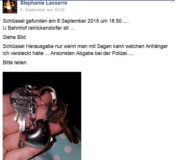 Facebook6 Schlüssel