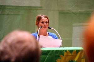 Als Direktkandidatin im Brunnenviertel eher chancenlos: Jenny Neubert - Foto: Andrei Schnel