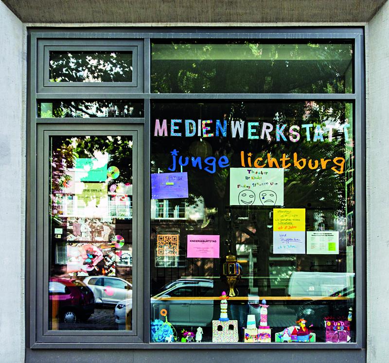 """Die Medienwerkstatt """"Junge Lichtburg"""" in der Bellermannstraße. Foto: S. Sallmann"""