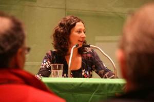 Die Direktkandidatin der Grünen für Wahlkreis 1 in Mitte: Ramona Pop - Foto: Andrei Schnell