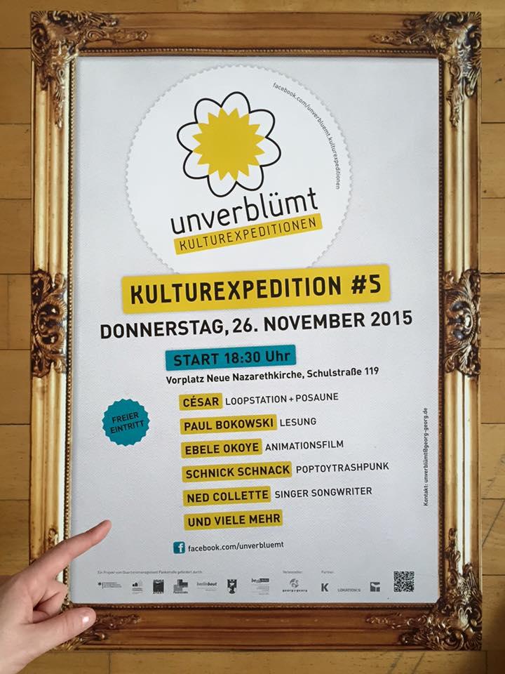 Unverblümt-Plakat