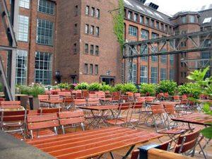 Die Terrasse der Cantinerie. Foto: Hensel
