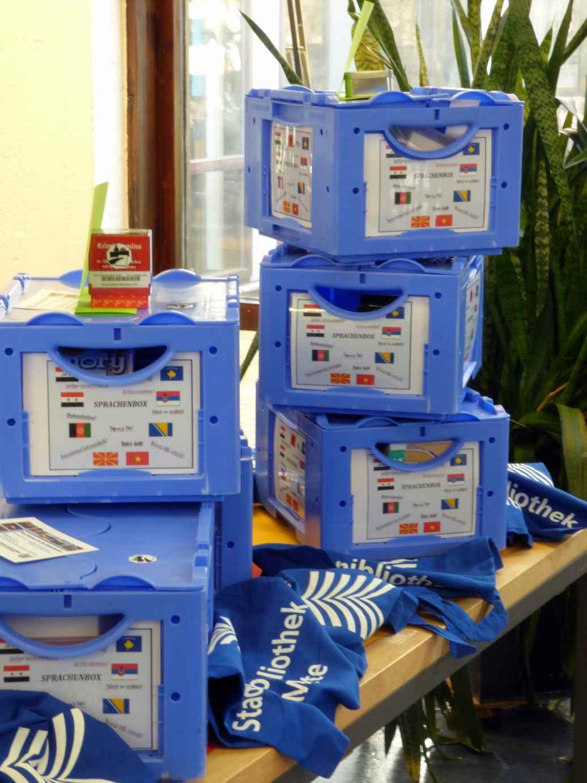 Sprachboxen - Foto Bibliothek Mitte