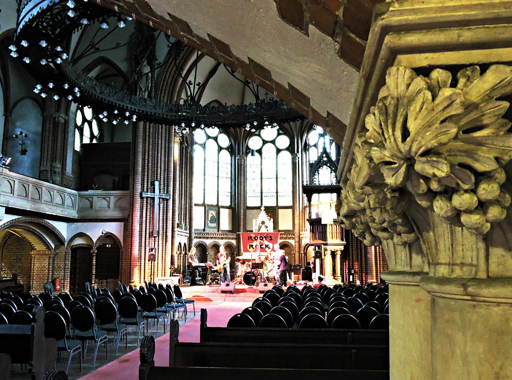 Die Stephanus-Kirche in der Prinzenallee wurde auch für Musikveranstaltungen genutzt. Foto: Alexandra Resch