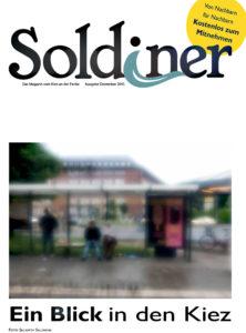 Das Cover des Kiezmagazins Soldiner, Ausgabe Dezember 2015.