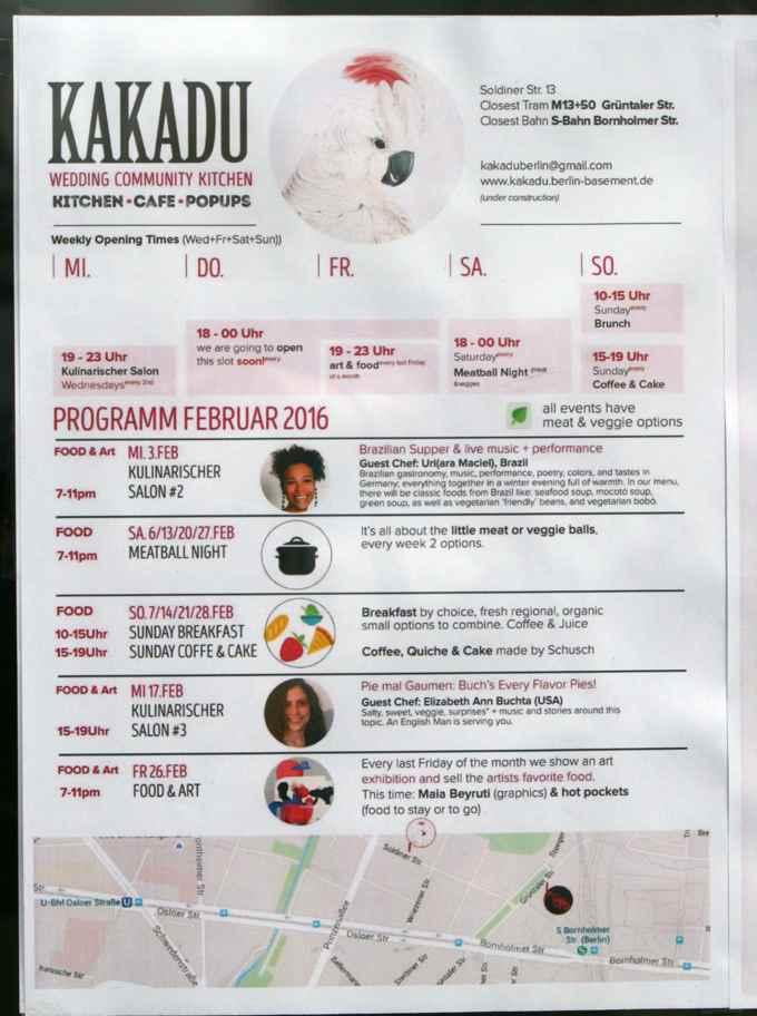 Ein Restaurant mit Programm statt einer Speisekarte. Grafik: Kakadu.