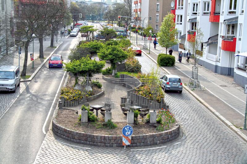 Gehegt und gepflegt: die Gleim-Oase im Brunnenviertel. Foto: Michael Becker