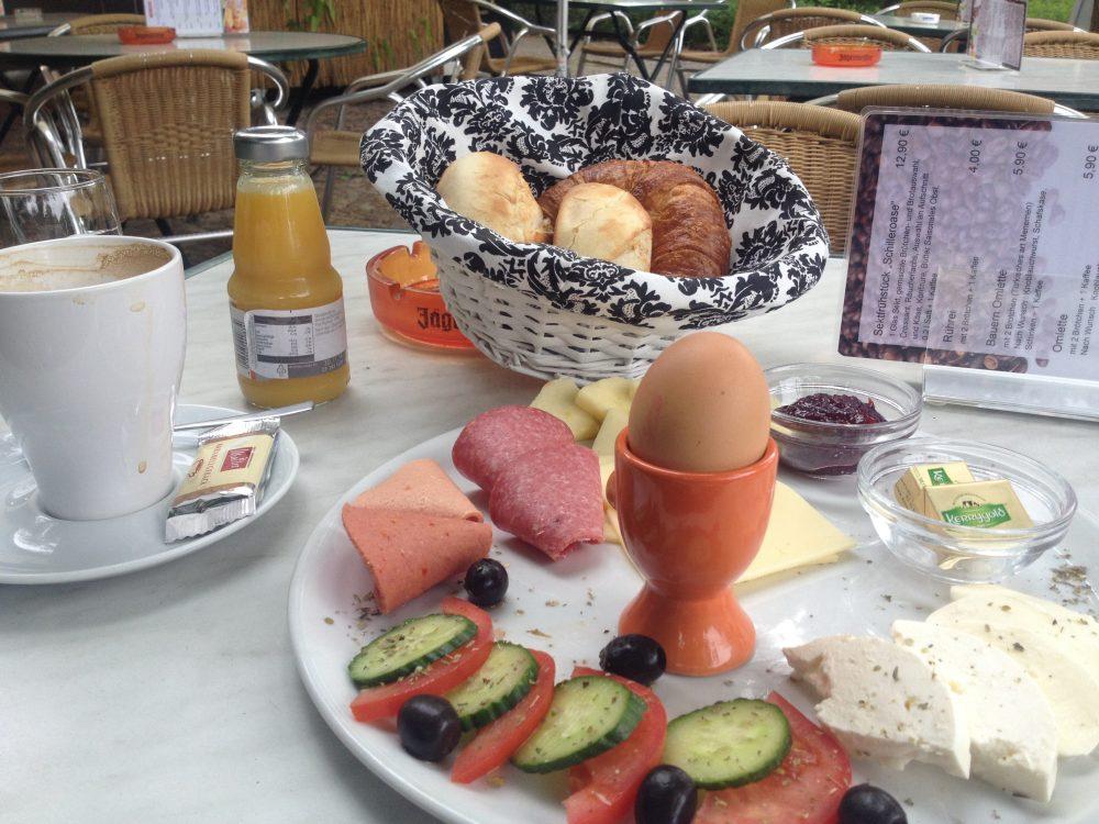 Großes Frühstück in der Schilleroase