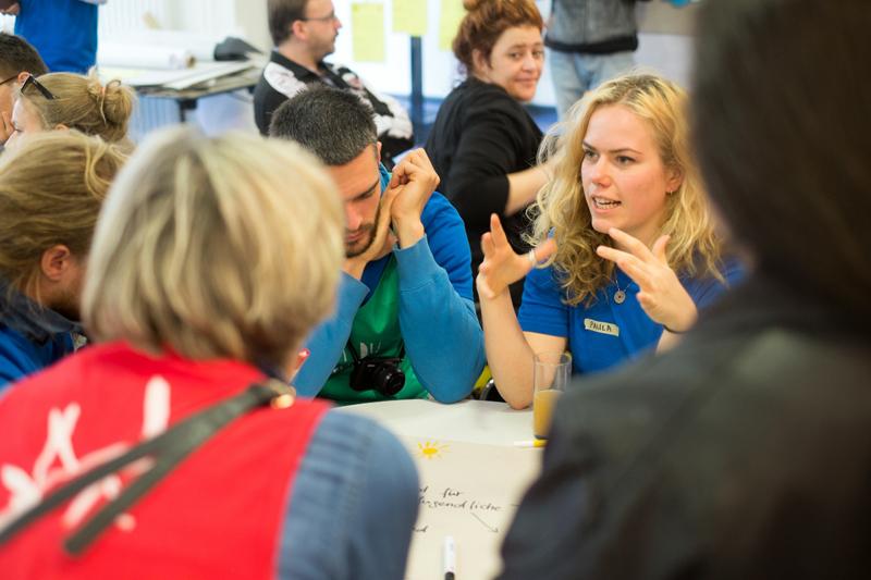 Zuvor wurden Ideen gesammelt und diskutiert. Foto: Sascha Hofmann