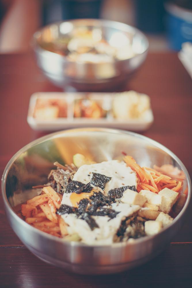 Sam Yuk Go Seestraße Koreanisches Restaurant Bibimbap mit Tofu