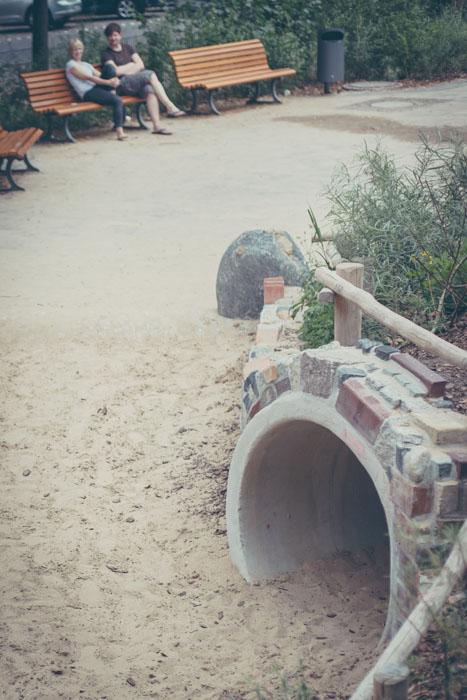 Tunnel auf dem Zeppi Spielplatz