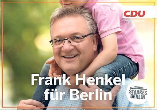 Frank Henkel CDU Wahlplakat
