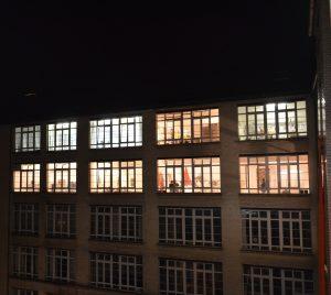 Gerichtshöfe bei Nacht. Foto: Kunst in den Gerichtshöfen.