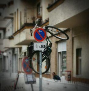 Fahrrad, Antwerpener Straße, kurios